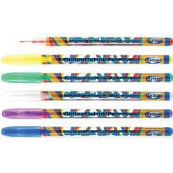 Gelinių rašiklių rinkinys GLITTER 6vnt 1.0mm CENTRUM