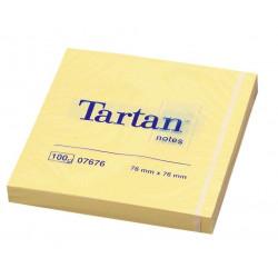 Lipnūs lapeliai TARTAN 76x76mm geltoni  įp.12