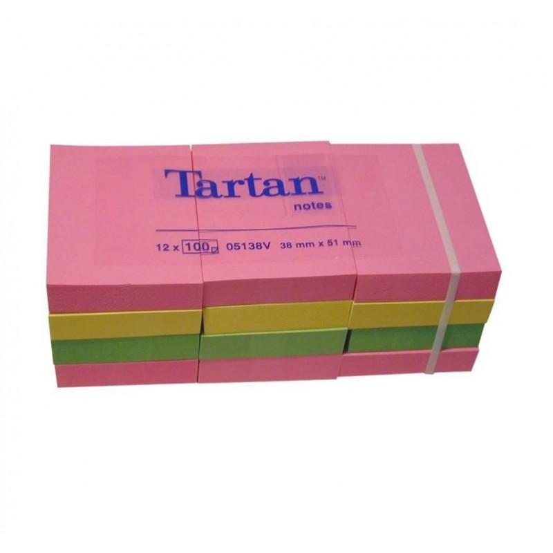 Lipnūs lapeliai TARTAN 38x51mm NEON spalvos įp.12