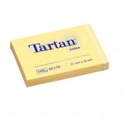 Lipnūs lapeliai TARTAN 51x76mm geltoni