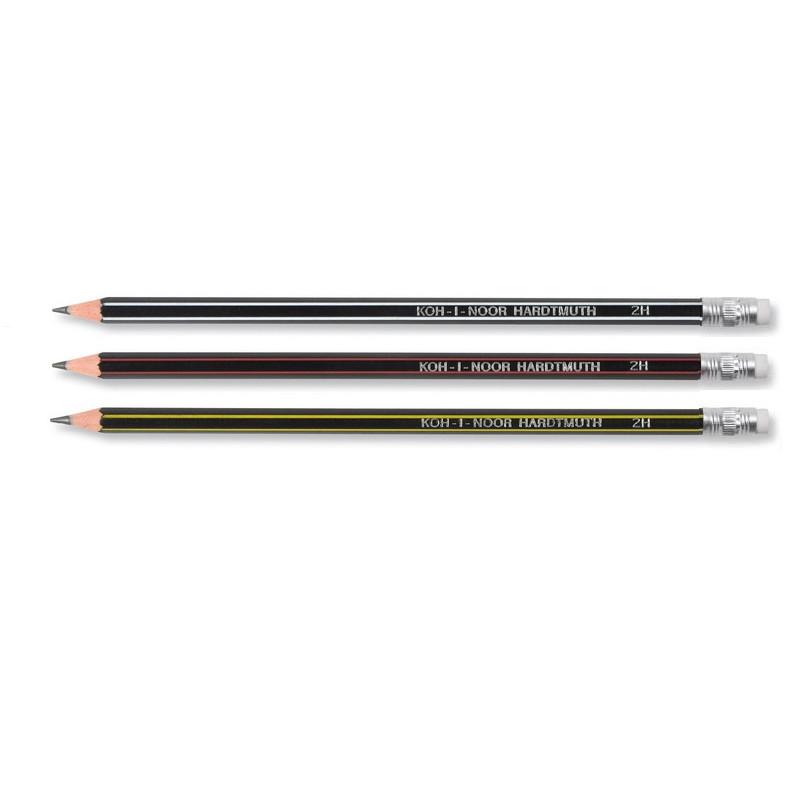 Pieštukas padrožtas su trintuku, lankstus 2H , KOH-I-NOOR 1397  įp.12