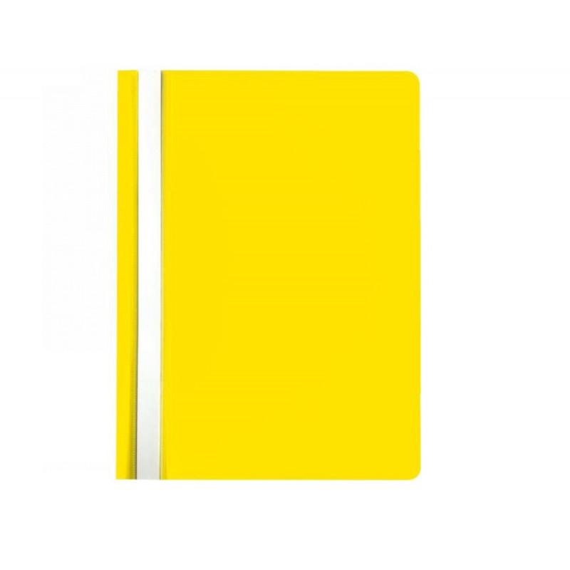 Segtuvėlis A5 skaidriu viršeliu geltonas