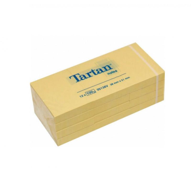 Lipnūs lapeliai TARTAN 38x51mm geltoni  įp.12