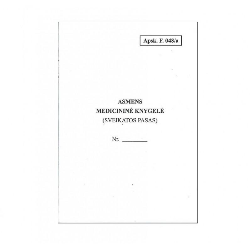 Asmens medicininė knygelė (F.048/a) balta