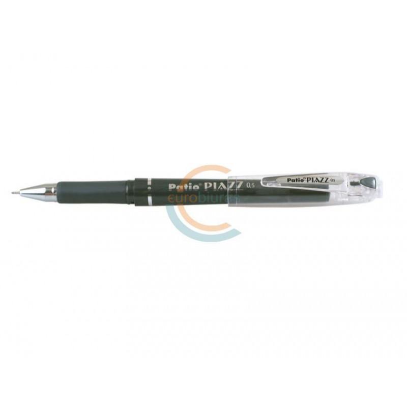 Gelinis rašiklis PATIO 0,5 PIAZZ juodas įp.12