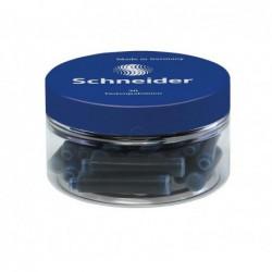 Rašalo kapsulės SCHNEIDER dėžutėje mėlynos 30 vnt.