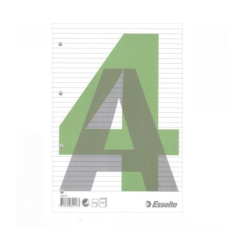 Bloknotas klijuotas A4/100 lapų, Esselte linijomis